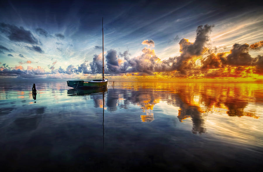 Seascape Photograph - A Time For Reflection by Mark Yugawa