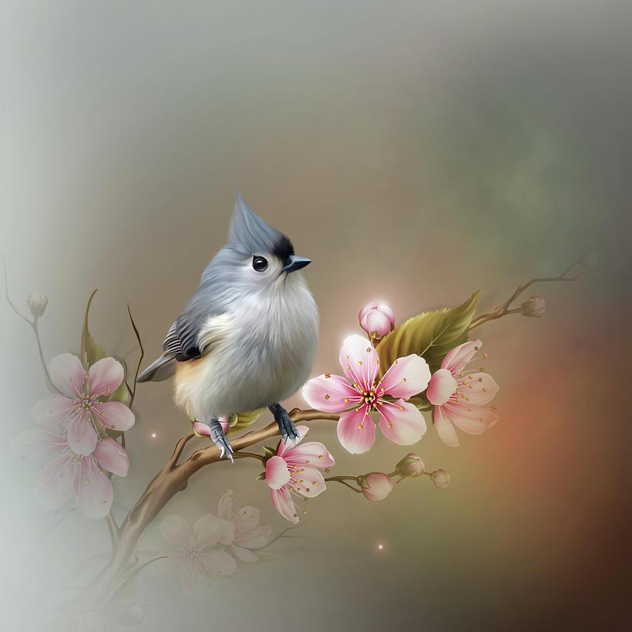 A Titmouse Bird by John Junek