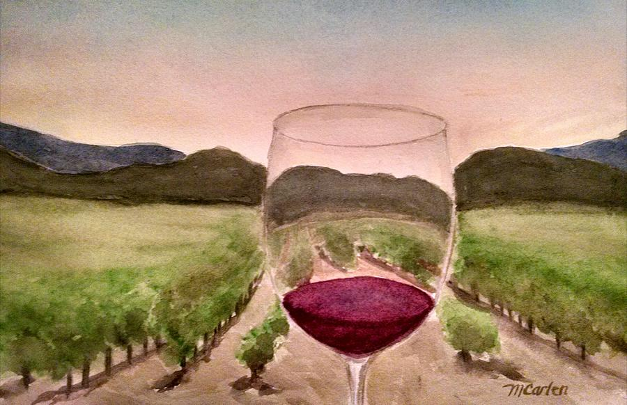 A Toast Among the Vineyard by M Carlen