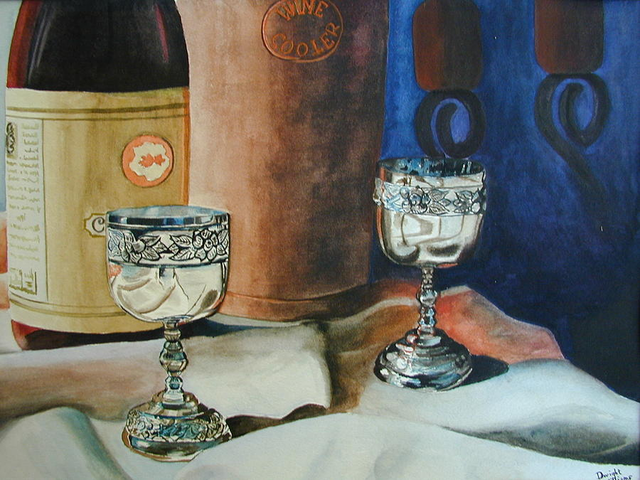 Still Life Painting - A Toast by Dwight Williams