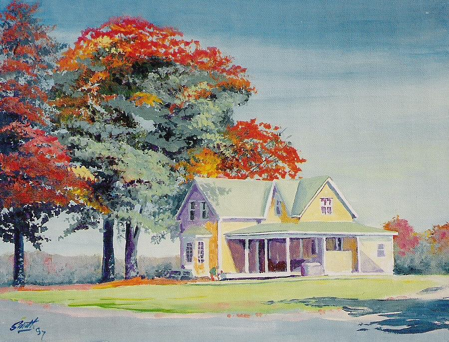 Landscape Painting - A Touch Of Fall by Barry Smith