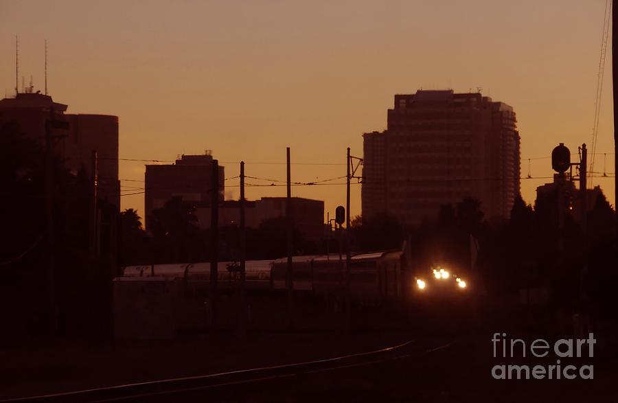 Train Photograph - A Train A Com In by David Lee Thompson