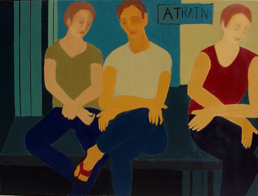 Subway Painting - A Train by Renee Kahn