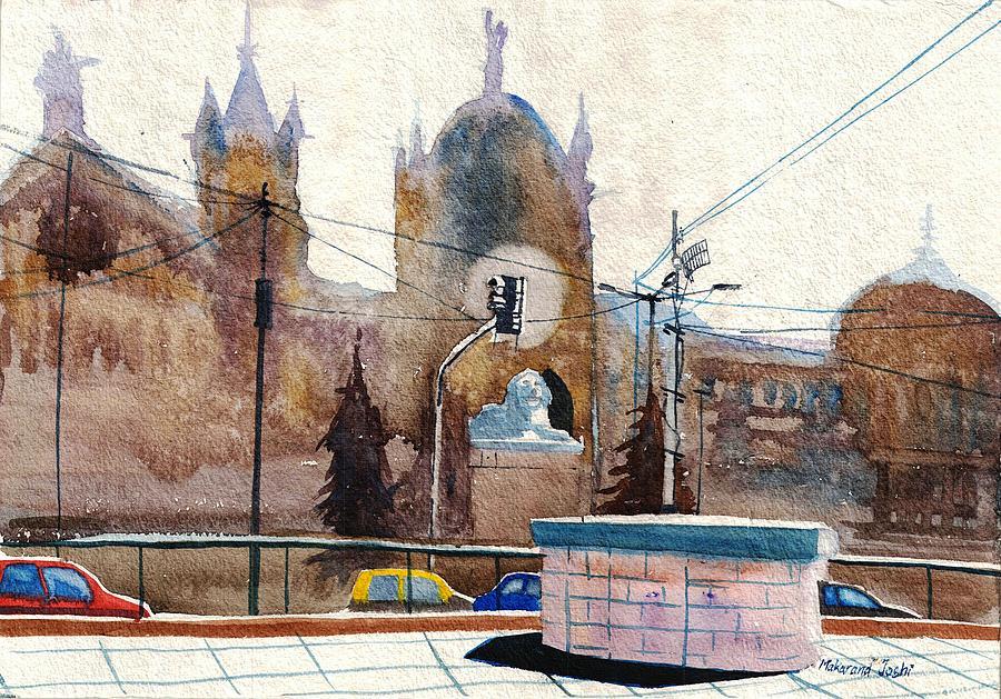 A Train Station in Mumbai by Makarand Joshi