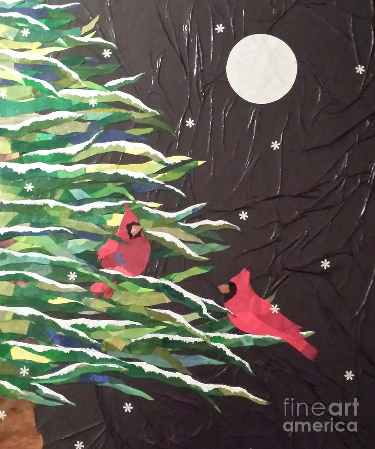 Snowfall and the Full Moon by Diane Miller