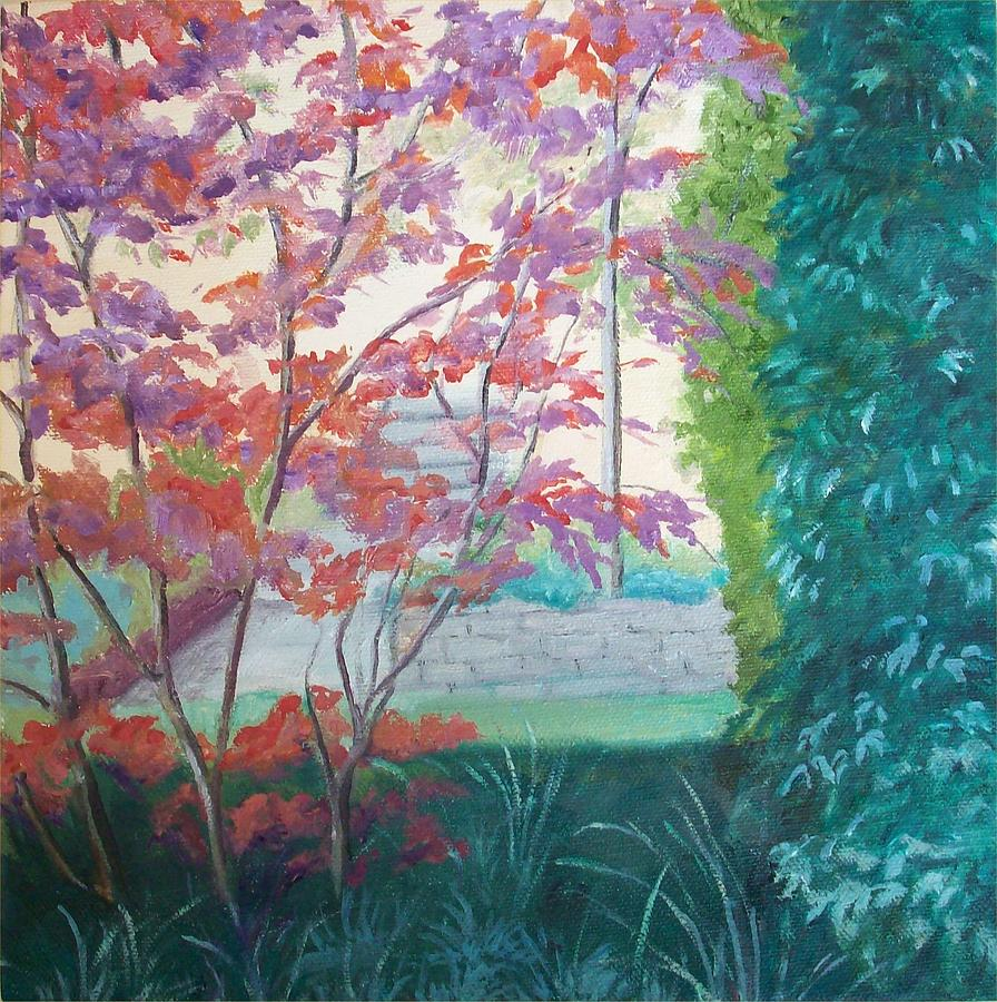 Garden Painting - A Tree Grows In Dublin by Irene Corey