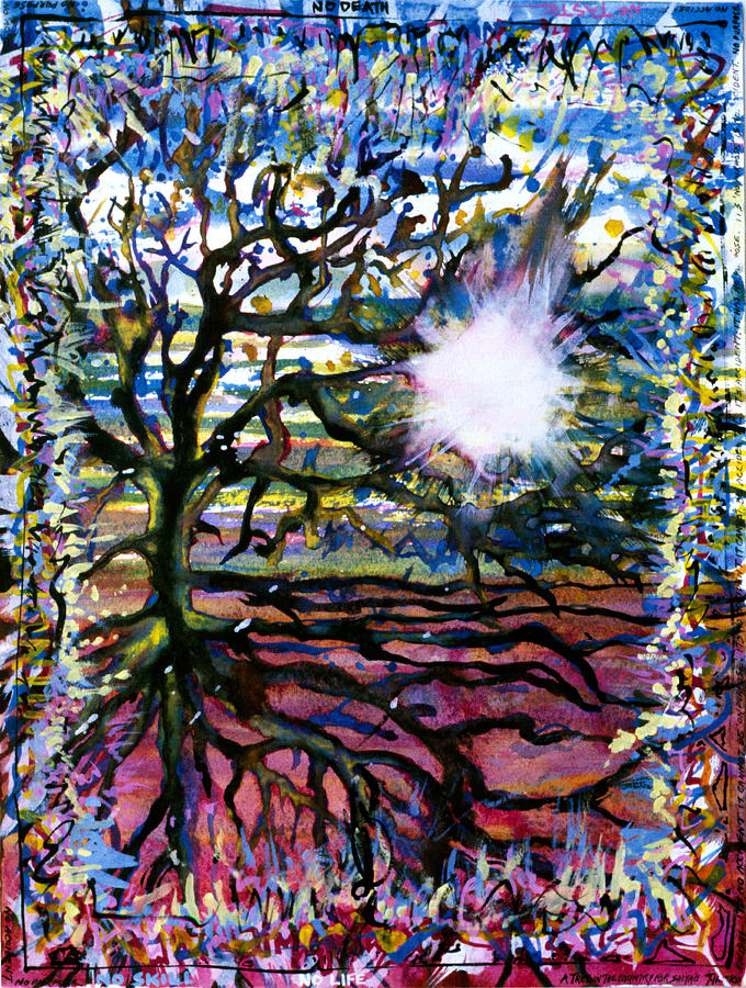 Abstract Painting - A Tree In The Country For Shitao by Tom Hefko