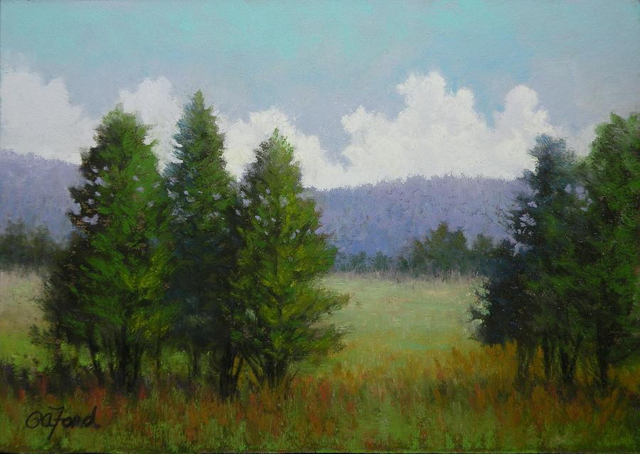 Pastel Painting - A Trees View by Paula Ann Ford