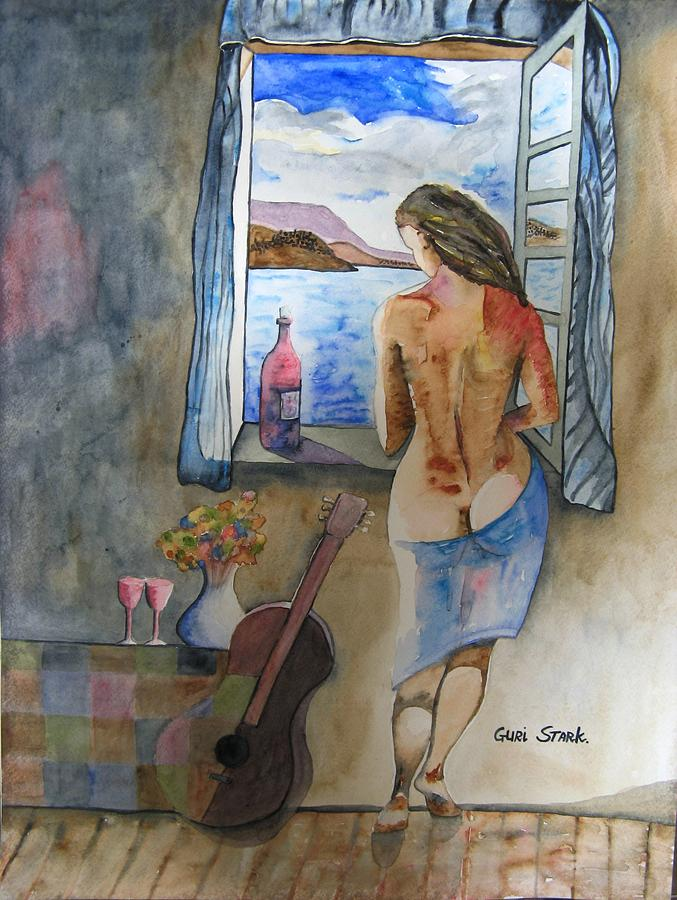 Watercolor Painting - A Tribute To Salvador Dali by Guri Stark