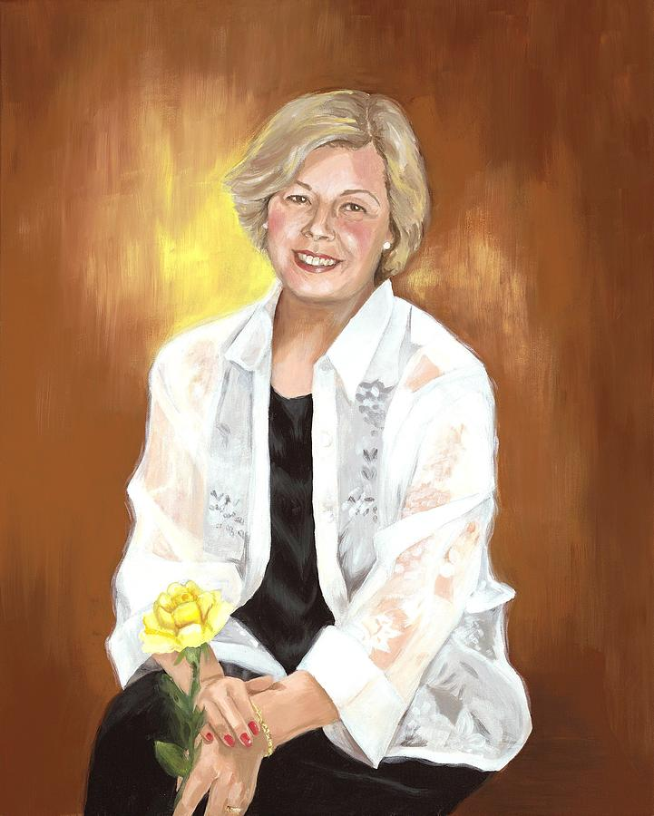 Portrait Painting - A Tribute to Sharon by Judy Swerlick