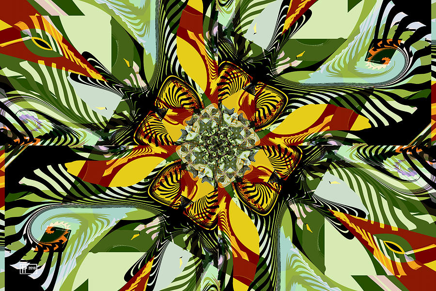 Abstract Digital Art - A Tropical Breeze by Jim Pavelle
