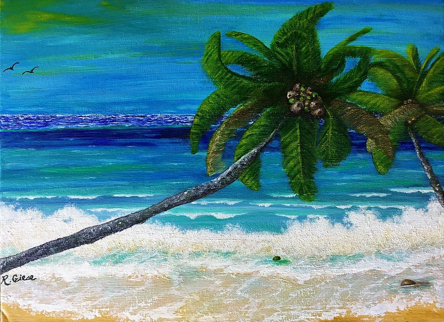 Birds Painting - A Tropical Tale Of Two by R Giese Originals