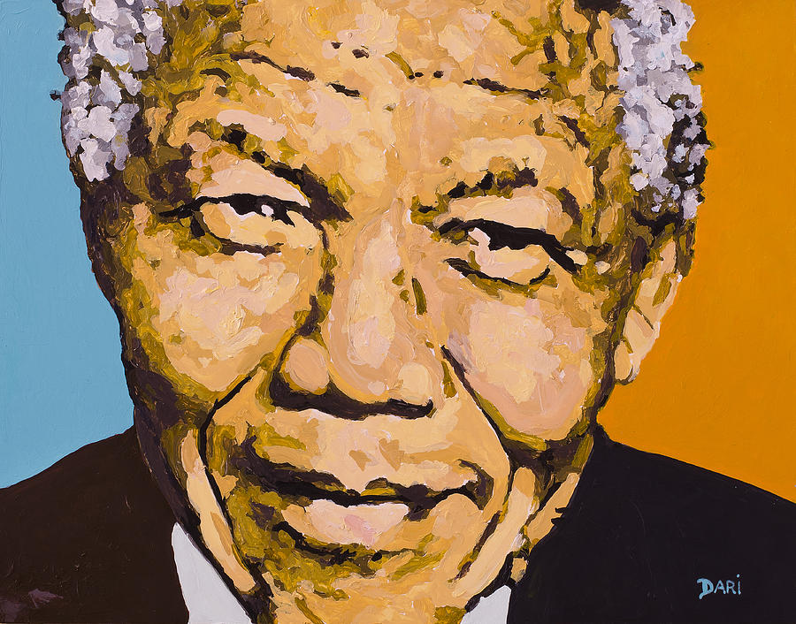 Civil Rights Painting - A True Leader With Dignity Personified by Dari Artist