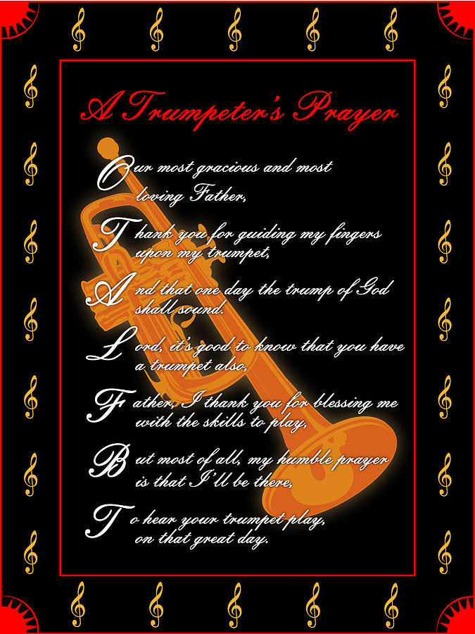 A Trumpeters Prayer_1 Digital Art by Joe Greenidge