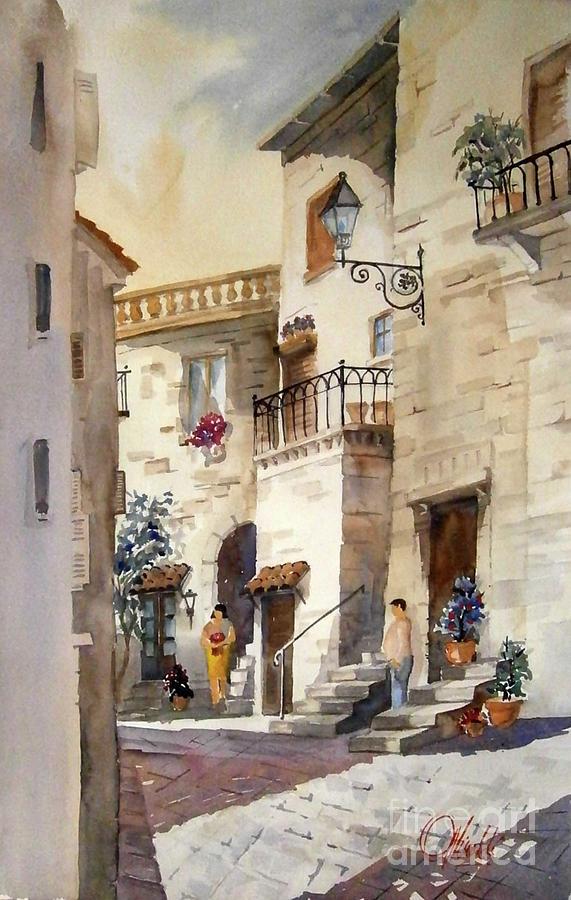 A Tuscan street scene by Gerald Miraldi