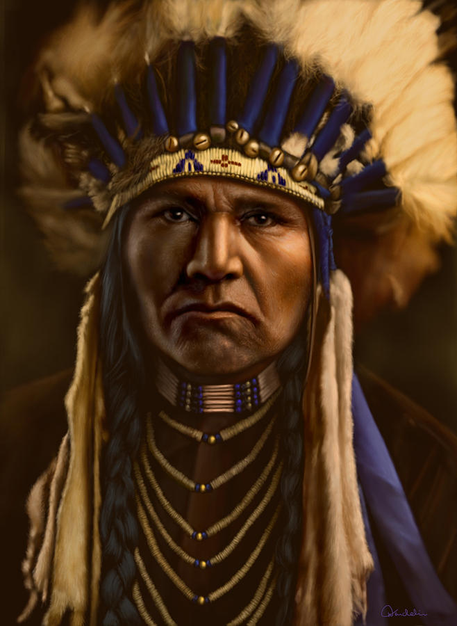 Native American Digital Art - A Typical Nez Perce by Helmut Weininger