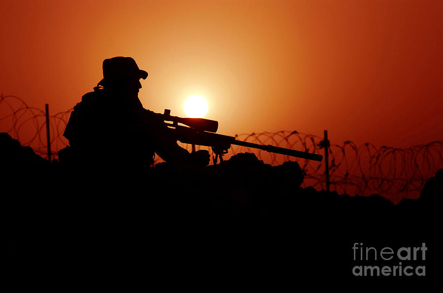 Firearms Photograph - A U.s. Special Forces Soldier Armed by Stocktrek Images