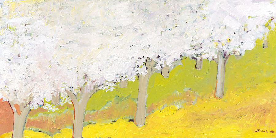 Landscape Painting - A Valley In Bloom by Jennifer Lommers