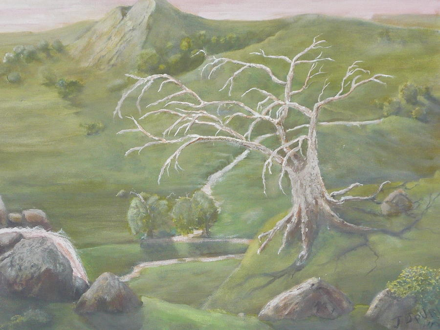Slow River Painting - A Valley by Jill Spurlock