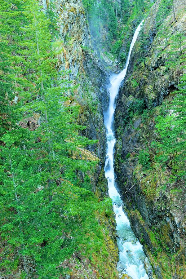Waterfall Photograph - A Very Tall Waterfall by Jeff Swan