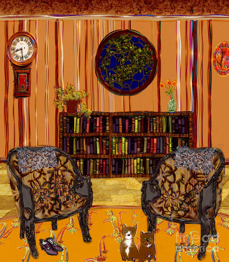 Bookcase Painting - A Victorian Horror by RC DeWinter