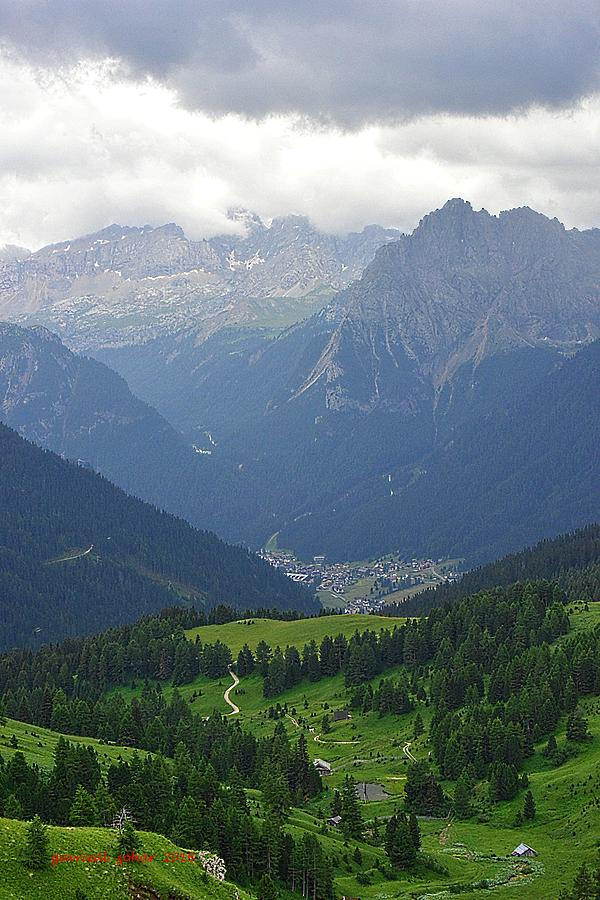 a view from 2200 meter altitude in the dolomite mountains of Italy Photograph by Zohar Gavrieal