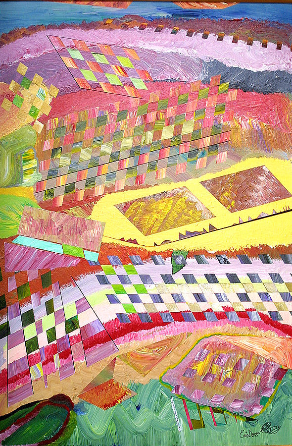 Crops Painting - A View From Above by Eric Devan