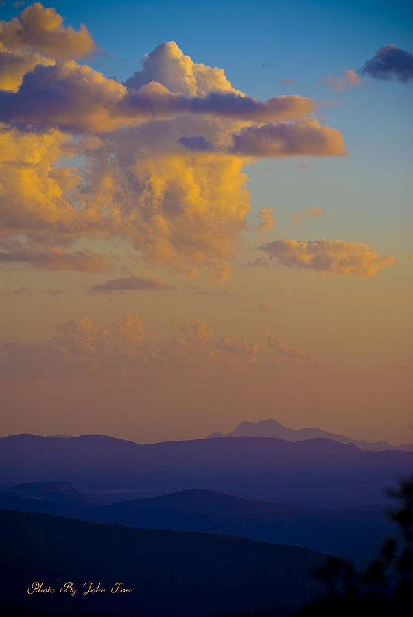 A View From The Mogollon Rim At Sunset Photograph By John