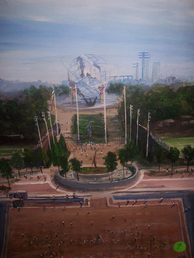 World Fair Painting - a view from the US OPEN by Richard Finnell