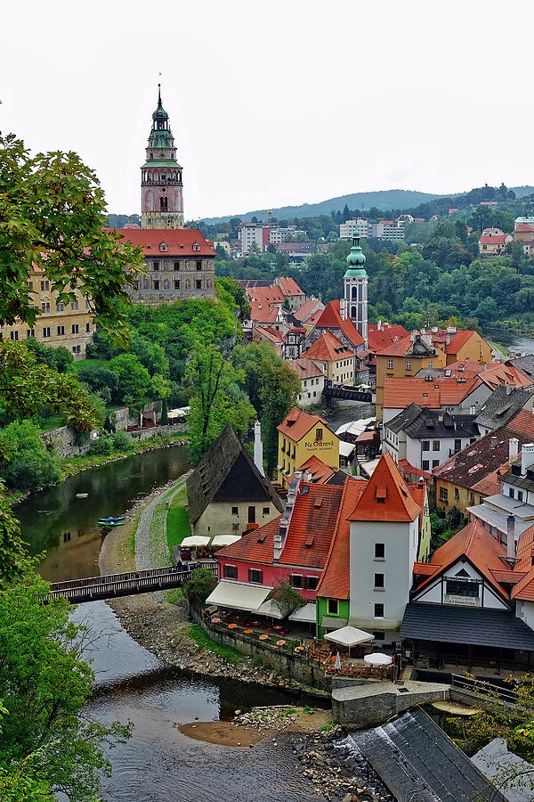 Cesky Krumlov Photograph - A View Of Cesky Krumlov And Castle In The Czech Republic by Richard Rosenshein