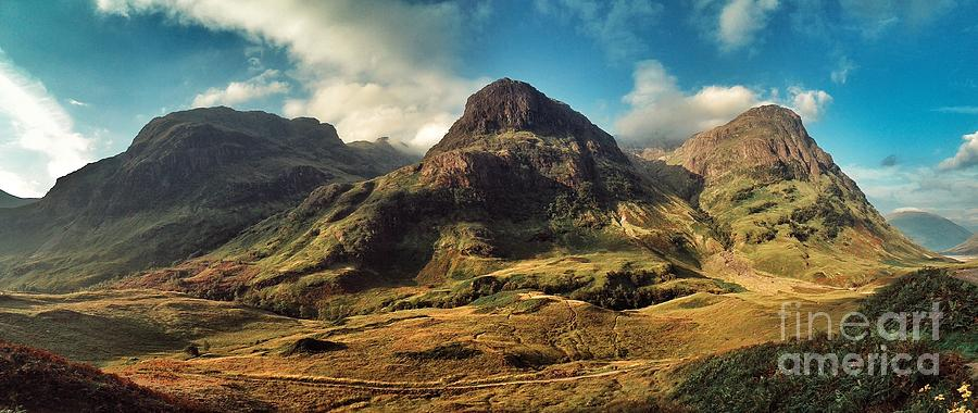 Glencoe Photograph - A View Of Glencoe. by Peter Hatter