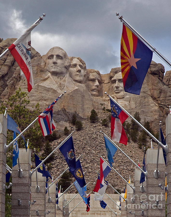 Mt Rushmore Photograph - A View Of Mt. Rushmore by Robert Pilkington