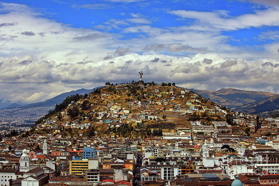 A view of Quito, Ecuador from the Basilica del Voto Nacional by Sam Antonio Photography