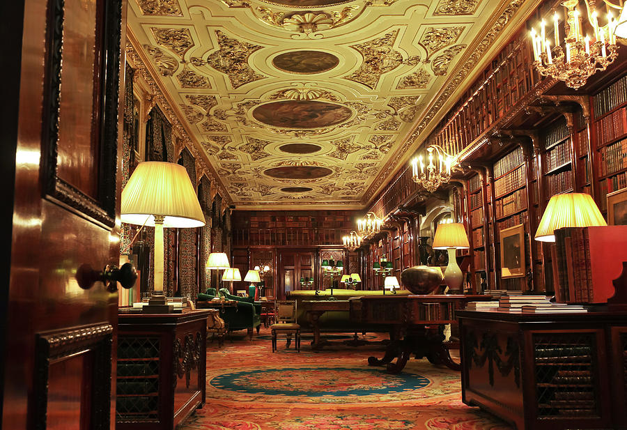Great Photograph - A View Of The Chatsworth House Library, England by Derrick Neill