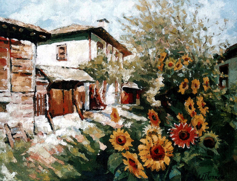 Summer Painting - A Village In Summer by Iliyan Bozhanov