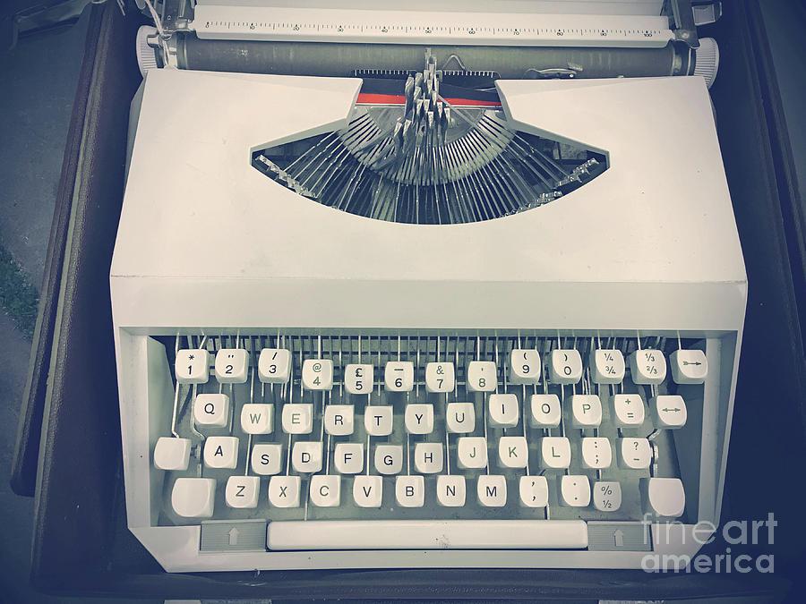 Alphabet Photograph - A Vintage Typewriter by Tom Gowanlock