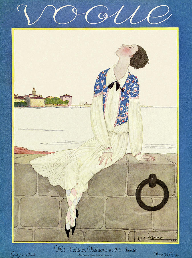 A Vintage Vogue Magazine Cover From 1925 By Georges Lepape