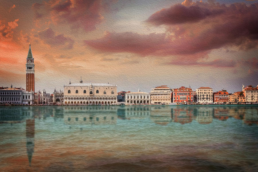 Venice Photograph - A Vision Of Venice Italy Reflected by Carol Japp