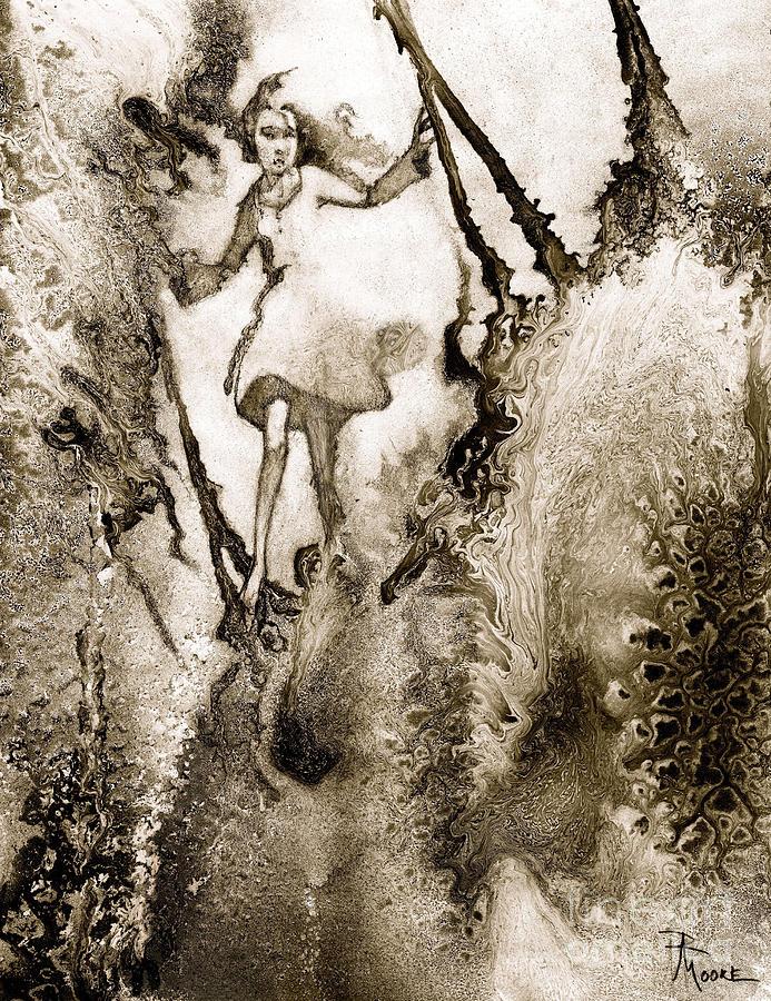 Abstract Drawing - A Vision Softly Creeping by Rick Moore