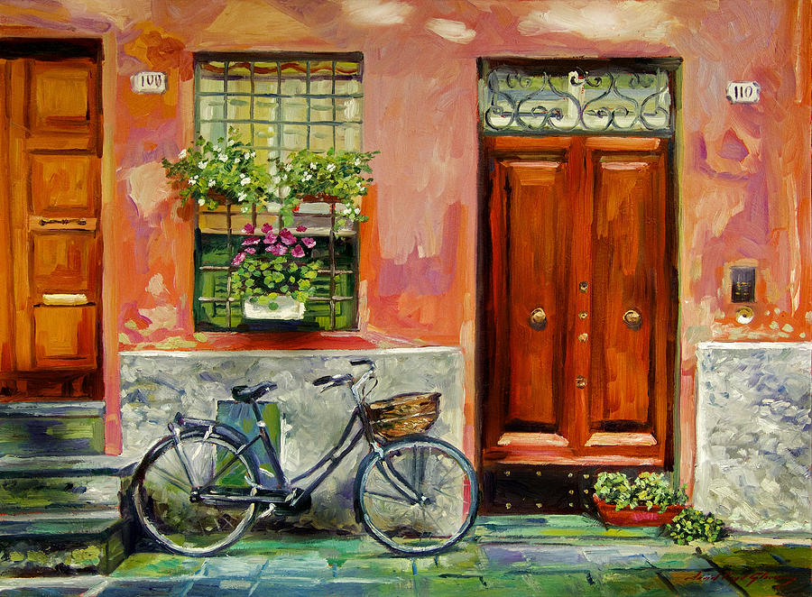 Impressionism Painting - A Visit by David Lloyd Glover