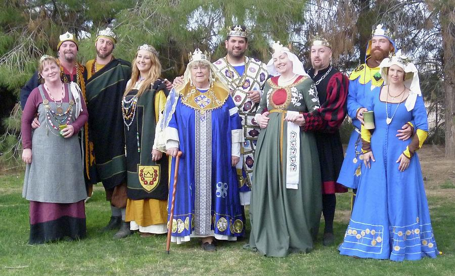 Renaissance Photograph - A Visit With Royalty by Russell D Holder