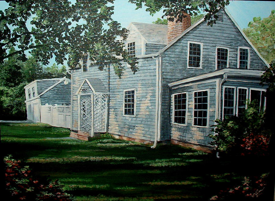 Landscape Painting - A Walk Back From The Beach At The Cape by Elisa Davis