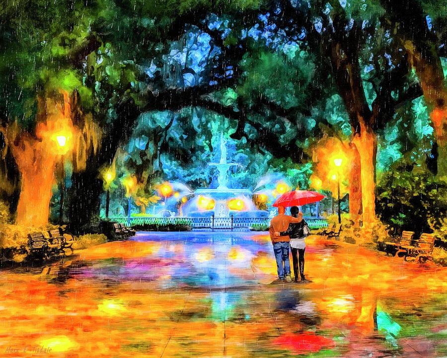 Savannah Painting - A Walk In Forsyth Park - Savannah by Mark Tisdale