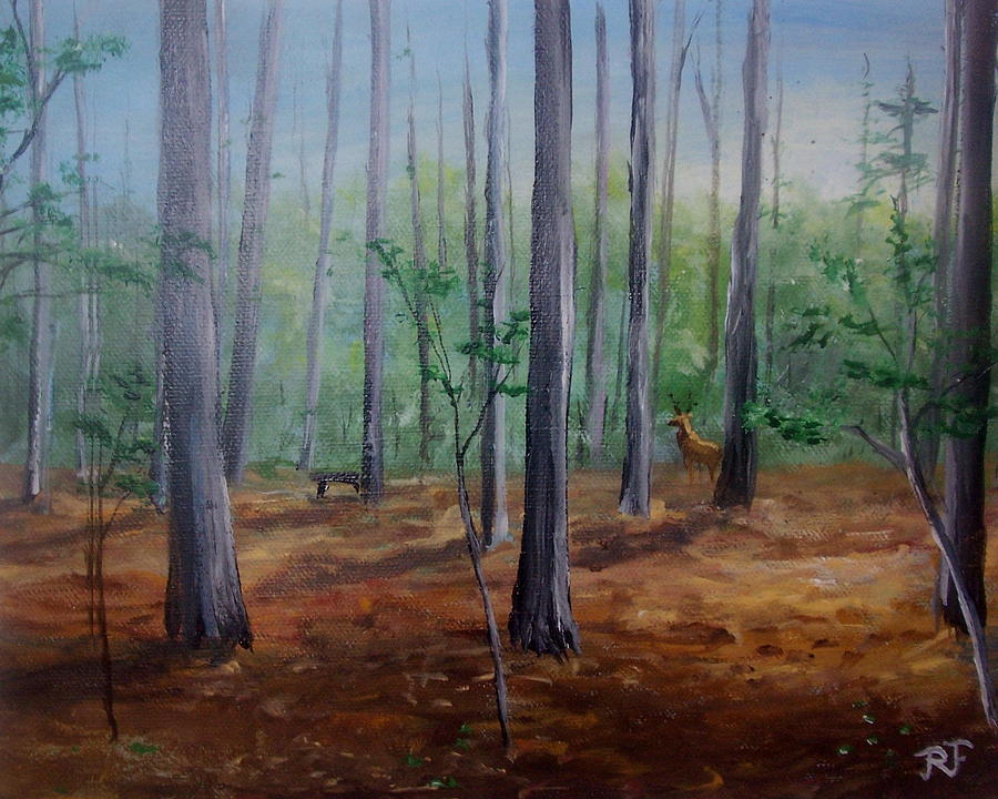 A Walk In The Forest  Painting by Richard Finnell