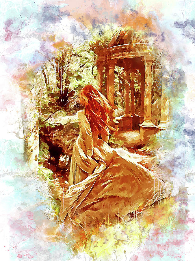 Romantic Digital Art - A Walk In The Woods 2 by Kathy Kelly