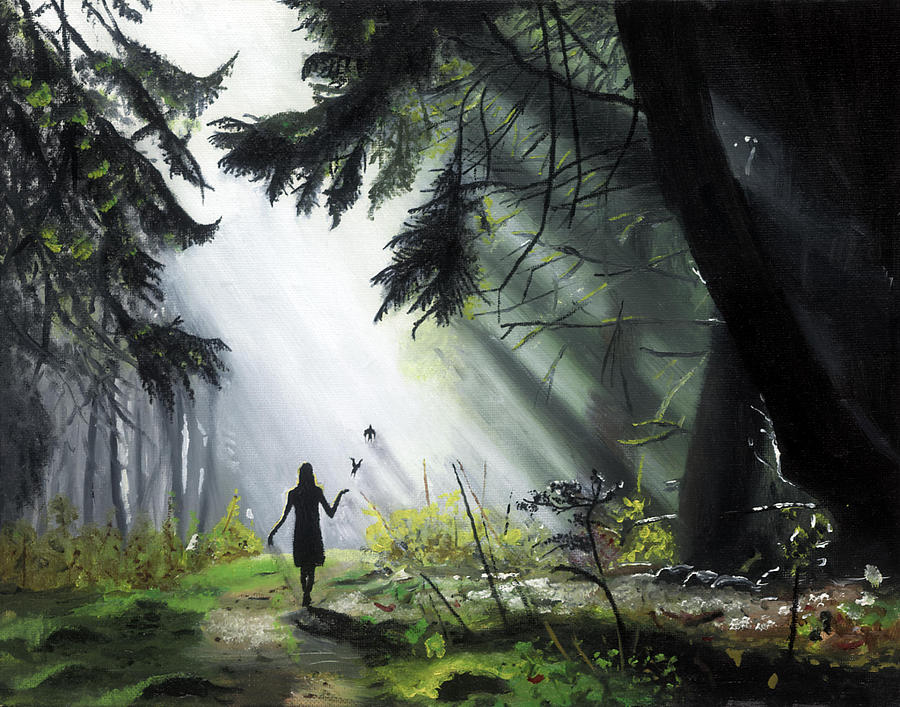 Landscape Painting - A Walk In The Woods by Chris Wiese