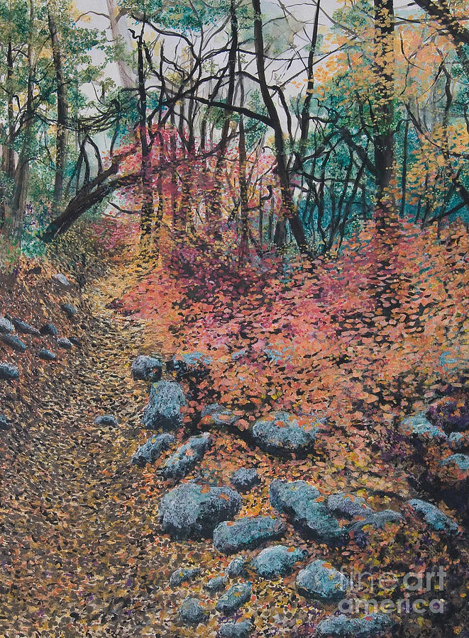 Autumn Foliage Mixed Media - A Walk In The Woods by Lucinda  Hansen