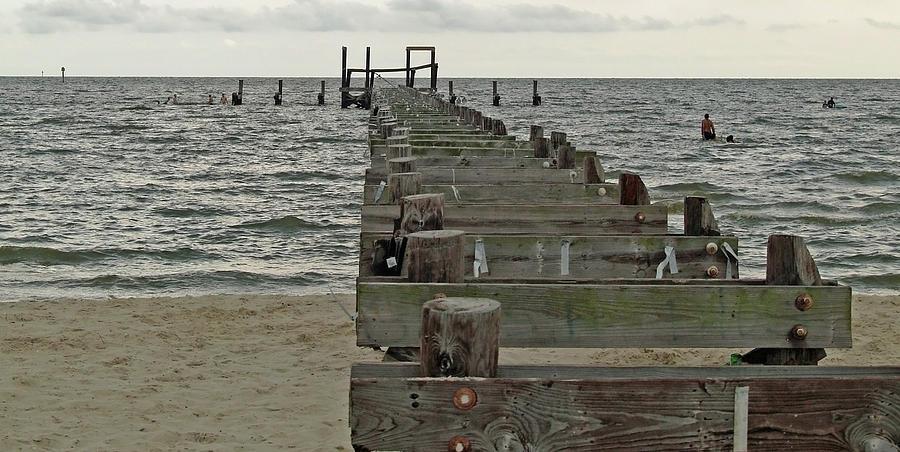 Pier Photograph - A Walk Into The Gulf by Diane Luke