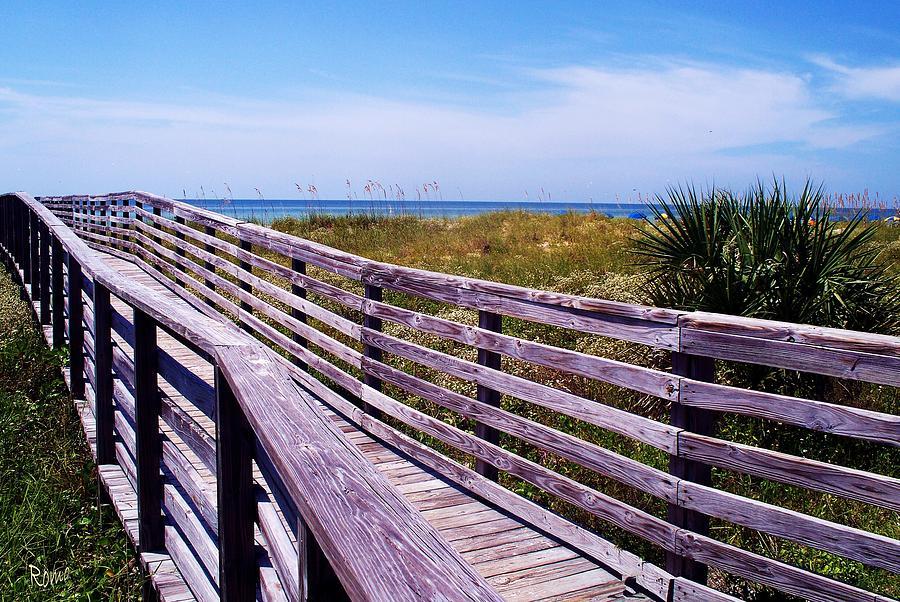 Beach Photograph - A Walk To The Beach by Robin Monroe