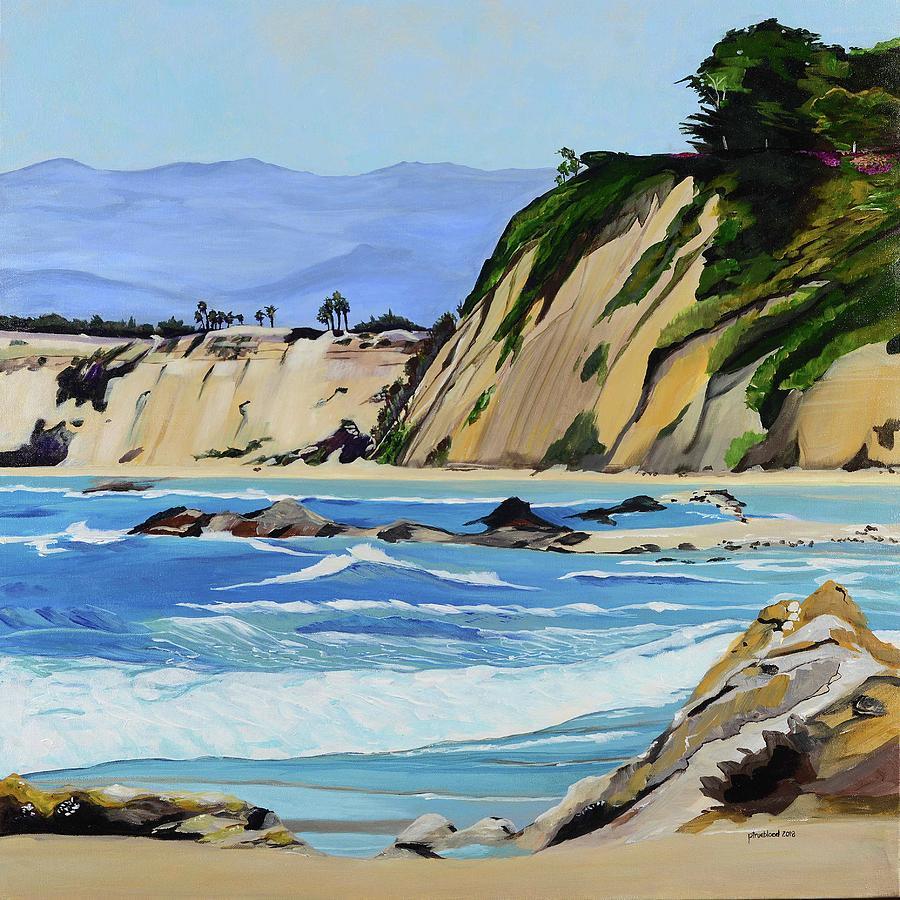 Beach Painting - A Walk With Steve by Pamela Trueblood